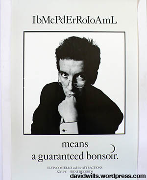 Elvis Costello Imperial Bedroom poster - by Barney Bubbles 1982